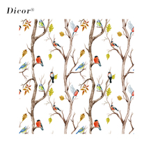 200CM Stained Glass Sticker Birds Tree Vinyl Frosted Opaque Static Films Window Decoration Refined Decal For Door 2019 New