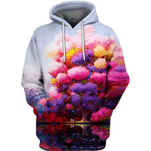 PLstar Cosmos colorful Pleasant Forest 3d hoodies/shirt/Sweatshirt Winter long sleeve Pullover Fashion Harajuku streetwear