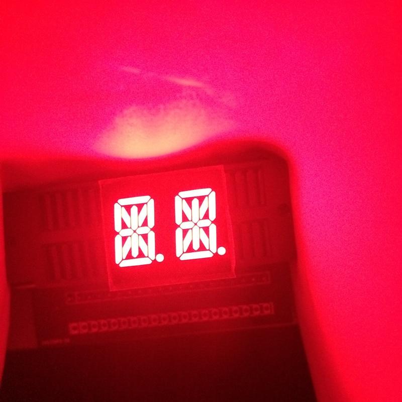 10pcs 14segments 0.54 LED Display Module Tube 2Blocks 2Bits 2Characters 2Digits 0.54Inch Letters RED 14 Segment Display Cathode