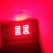 Module d'affichage LED 0.54, 10 pièces, 14segments, 2 blocs, 2Bits, 2 caractères, 2 chiffres, 0.54 pouces, rouge, affichage de la Cathode