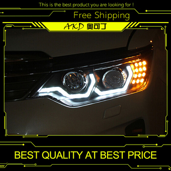 AKD Car Styling for Toyota Camry Headlights New Camry V55 LED Headlight DRL Bi Xenon Lens High Low Beam Parking Fog Lamp