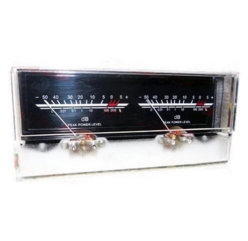 2020 Free Shipping NEW 6.3 Double Pointer Power Amplifier VU Meter DB Level Audio Power Meter With Backlight And Voltage