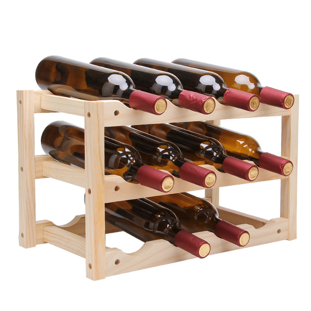 12bottle Red Wine Rack Diy Beer Holder Kitchen Bar Solid Wood Display Shelf Room Wine Cabinet Hotel Wine Bottle Rack Lu720348 Wine Racks Aliexpress