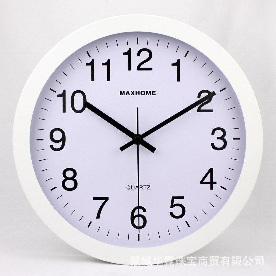 Horloge murale en métal Sangtai balayage muet mouvement classique maison bureau décoration mode Simple salon horloge