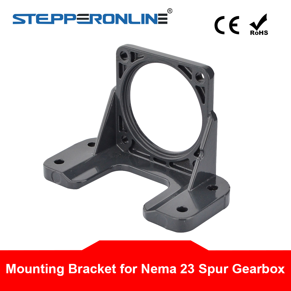 <font><b>Nema</b></font> <font><b>23</b></font> Mounting <font><b>Bracket</b></font> Alloy Steel for Nema23 Spur Gearbox Geared Stepper Motor 3D Printer image