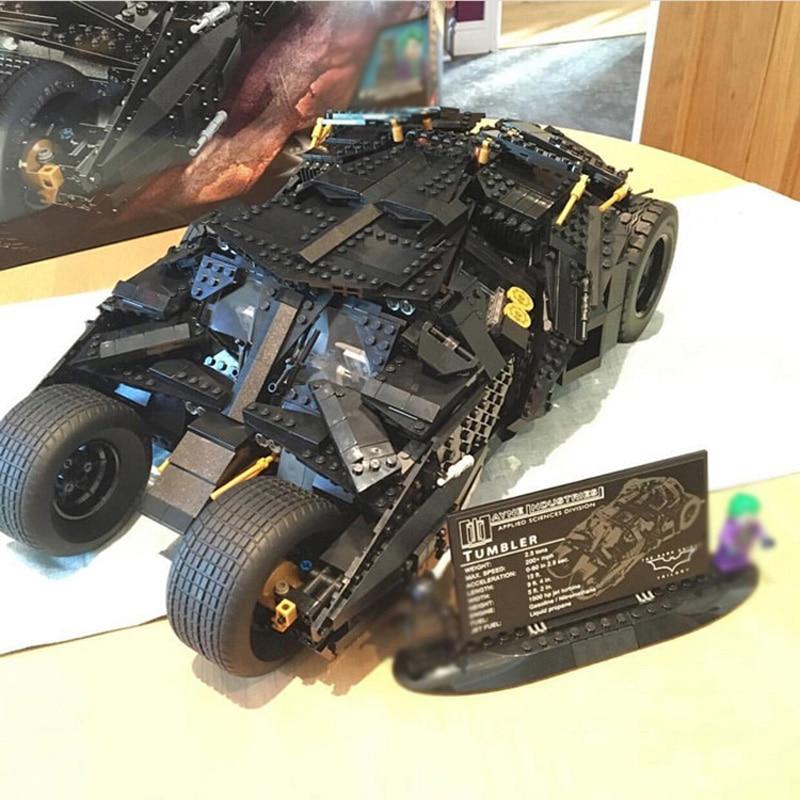 87041, 1909 piezas Super héroe de la serie el vaso Batman blindado carro juegos de bloques de construcción ladrillos juguetes Compatible 07060 de 76023-in Bloques from Juguetes y pasatiempos    1