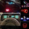 Voiture Autocollant Musique Rythme LAMPE DE POCHE LED Lampe Voiture Pare-Brise Arrière Lumière Décorative Égaliseur Activé Par le son Avec Contrôle