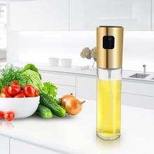 Стеклянный распылитель оливкового масла, спрей для масла, пустая бутылка для уксуса, диспенсер для масла для приготовления салата, барбекю, кухни, выпечки