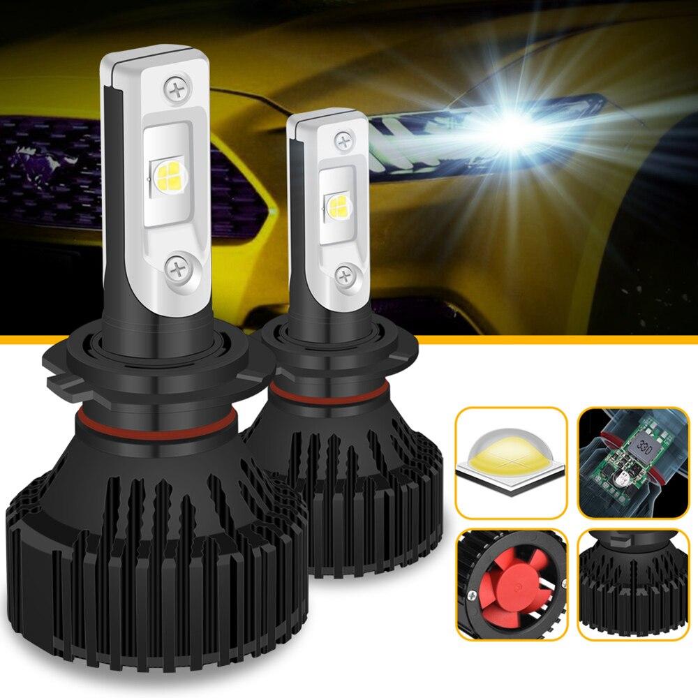 Светодиодные лампы для фар Katur H7, 60 Вт, 9005 лм, противотуманные Автомобильные фары для вождения, Однолучевые P13W PSX24W PSX26W H11 H8 6500 H10, противотуманн...