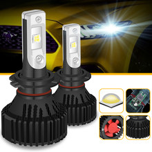 Katur H7 LED Headlights Bulbs 60W 16000LM Driving Fog Car Lights Single Beam P13W PSX24W PSX26W H11 H8 9005 H10 Fog Lamps 6500K
