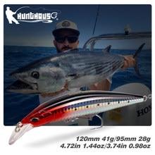 Hunthouse naufrágio isca de pesca 95/120mm 28/41g artificial swimbait leurre pescar g controle minnow jerkbaits lw403 isca dura