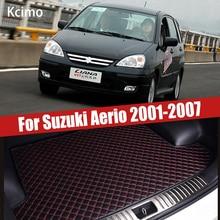 Кожаный коврик для багажника автомобиля багажника подкладка для сапог для Suzuki Aerio хэтчбек 5 дверей Liana 2001 ~ 2007 авто аксессуары для украшения д...
