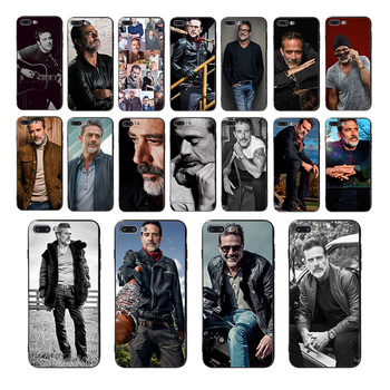 Jeffrey Dean Morgan Pattern Soft Mobile Cover For Iphone 8 7 11 Pro X XR XS max 6s 6 plus 12 Phone Case Luxury TPU Shell Coque image