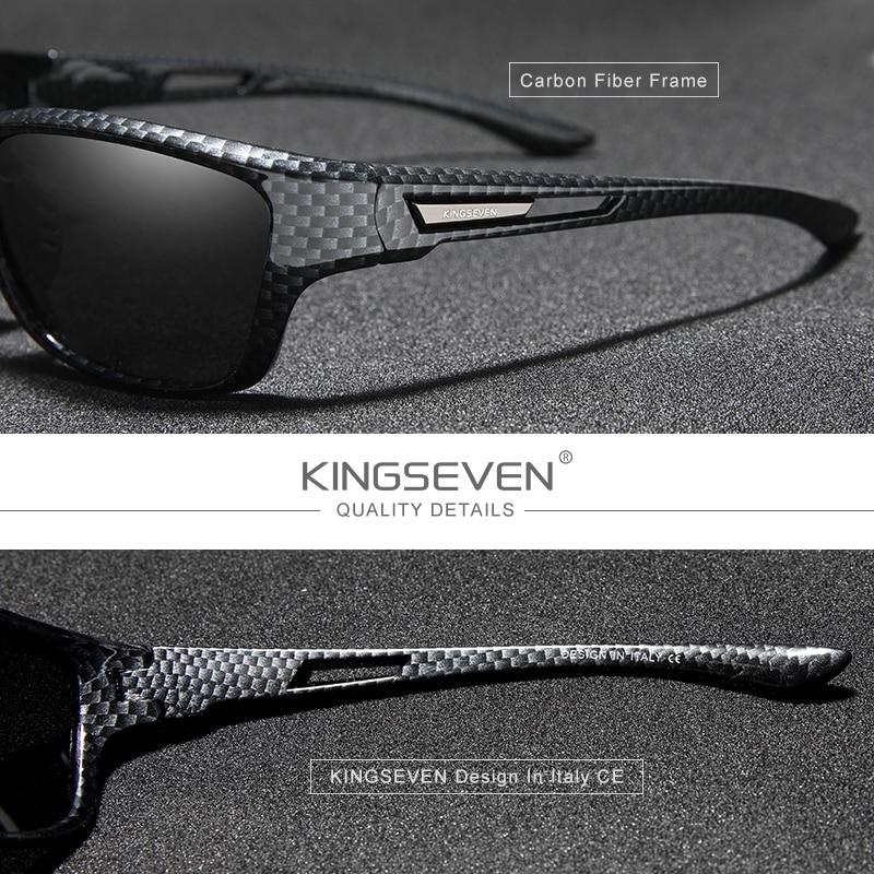 KINGSEVEN Ultralight Frame Polarized Sunglasses Men Fashion New Sports Style Square Sun Glasses Male Outdoor Travel UV Goggles 2