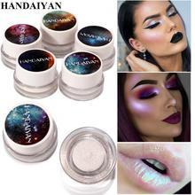 HANDAIYAN Mode Lidschatten Schönheit Make-Up Lang Anhaltende Glanz Regenbogen Farbe Lidschatten Highlight Blendable Pigment Pulver TSLM2