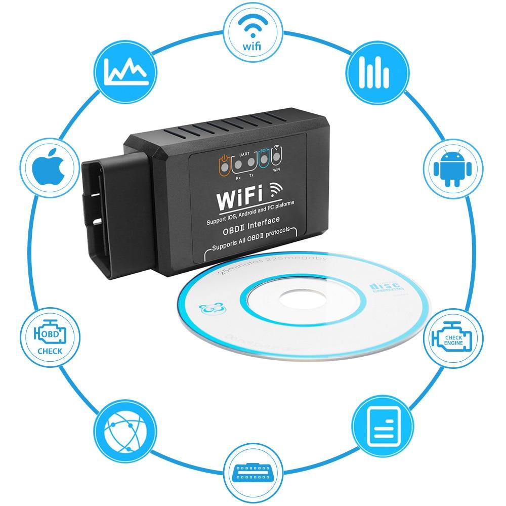 OBD2 ELM327 Wifi V1.5 Car Scanner Code Reader Adapter Diagnostic Tools For Hyundai Kia Opirus Niro K Carens Elantra Sonata Verna