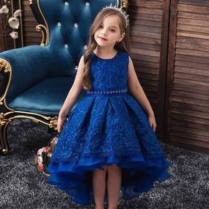 High quality baby lace princess dress for girl elegant birthday party dress girl dress Baby girls clothes 4-14yrs