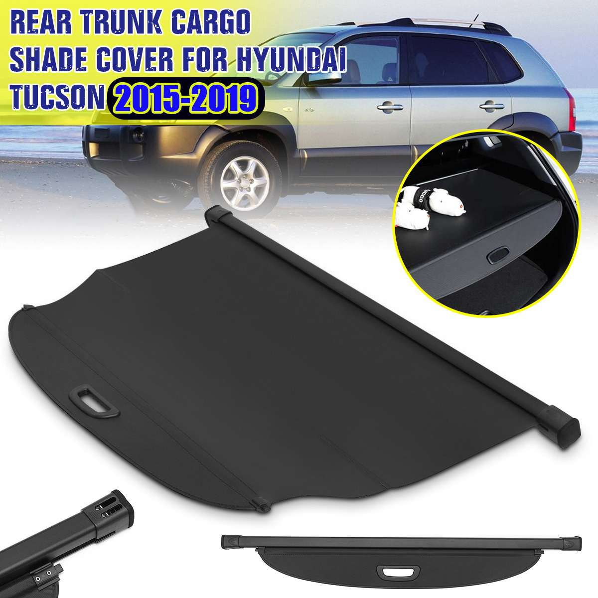 Car Cargo Cover Rear Trunk Luggage Boot Security Shade For Hyundai Tucson 2015 2016 2017 2018 2019