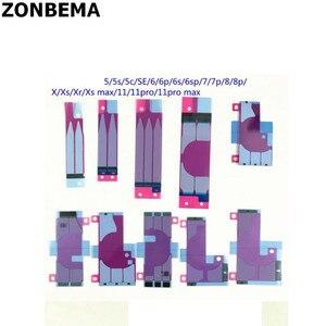 Image 1 - ZONBEMA 100 adet pil yapıştırıcı Sticker iPhone 6 6S artı çift bant çekme gezisi tutkal