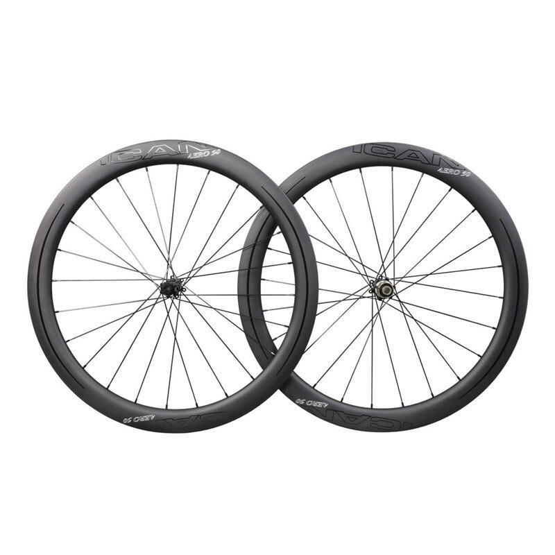 AERO ICAN carbone vélo roues frein à disque super léger jante novatec 411 412 SAPIM-CX-RAY roues carbone pneu 50mm carbone roues