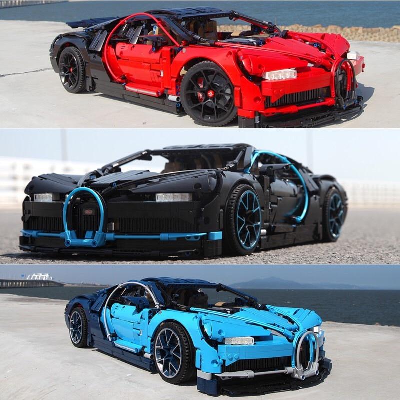 DECOOL Three Colors Red Black Blue Racing Car Technic 3625Pcs 3388 Model Building Blocks Bricks Toy 20086 42083