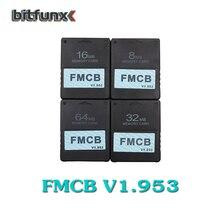 بطاقة Bitfunx v1.953 FMCB المجانية McBoot 8 ميجابايت/16 ميجابايت/32 ميجابايت/64 ميجابايت لألعاب سوني PS2 2