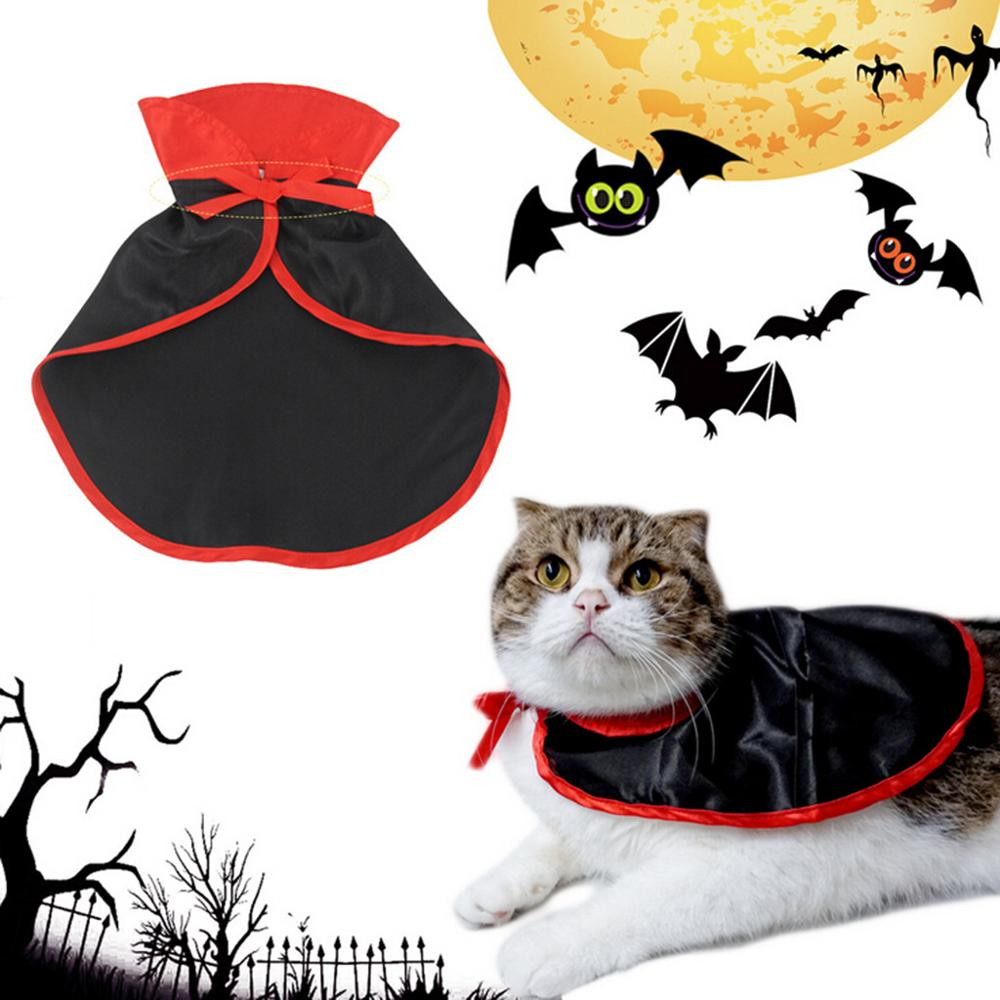 Halloween Pet Cat Dog Costumes Cute Cosplay Vampire Cloak Cape Cap Witch Cosplay Horns Role Play Clothes For Party FD|Cat Clothing|   - AliExpress