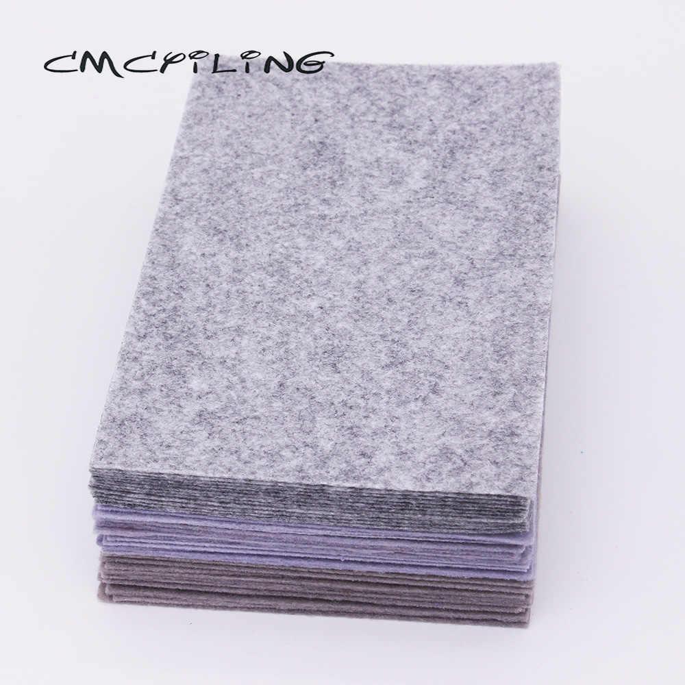 CMCYILING 40 pz/lotto 10*15cm Feltro Tessuto di 1 MM di Spessore Tessuto Poliestere Per Il Cucito FAI Da TE Mestieri Scrapbook Feltro lenzuola Grigio