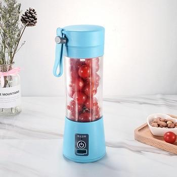 Portable Mixer USB Electric Fruit Juicer Handheld Smoothie Maker Blender Stirring Rechargeable Mini Food Processor Juice Cup 7