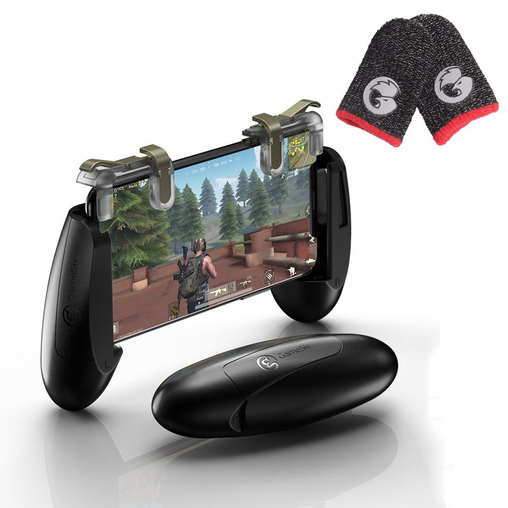 GameSir F2 נייד משחקי בקר עם ירי הדק + GameSir טפרי אצבע כפפות 1 זוג של אגודלים שרוול עבור PUBG