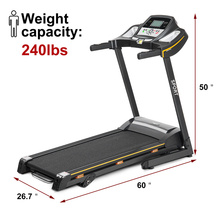0.8-14.8 KM/H Digital Quick Speed Control Treadmill 3 Slope Adjustments Hydraulic Foldable Home Gym Treadmill Fitness Equipments