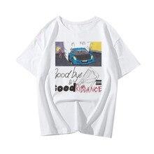 Novo rip juice wrld sonhos lúcidos tshirt feminino punk gótico camiseta hip hop t camisa streetwear harajuku camiseta