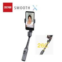 Zhiyun Ufficiale Liscio X Telefono Giunto Cardanico Selfie Stick Portatile Stabilizzatore Pole Smartphone per il iPhone Huawei Xiaomi Redmi Samsung