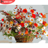 HUACAN Paint By Number Flower Hand Painted Painting Art Gift DIY Pictures By Numbers Flowers Kits Drawing On Canvas Home Decor