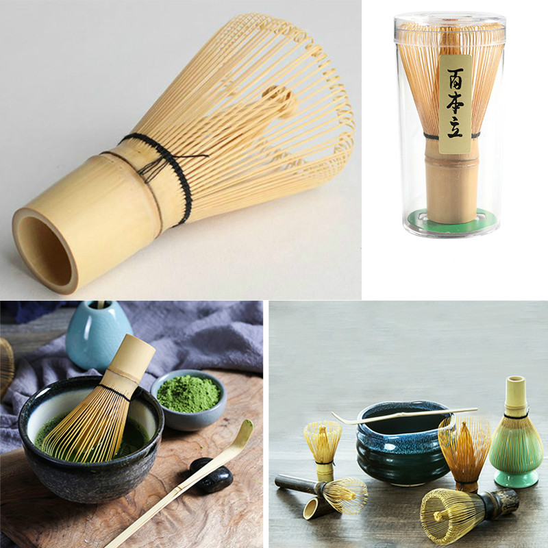 1PC Matcha Green Tea Powder Whisk Matcha Bamboo Whisk Bamboo Chasen Useful Brush Tools Kitchen Accessories matcha whisk