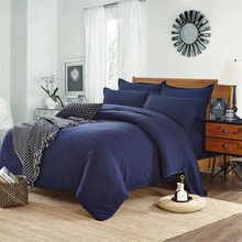 100 cotton Duvet cover Queen King size solid color Quilt Cover Single Double Bed Hotel Home Bedding article Multicolor optional tanie tanio xiao qi qi Qualified Plain Dyed Modern 100 Cotton Reactive Printing 400TC 1 3kg Adults