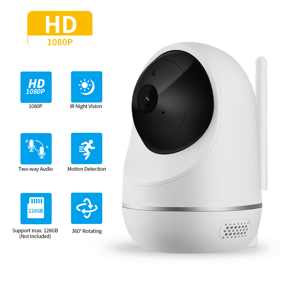 YI Camera 1080P Dome Wireless WIFI IP Home Security Camera Surveillance CCTV Network Pan/Tilt/Zoom Night Vision Motion Tracking