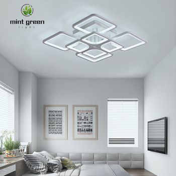 NEW 8 HEADS Modern LED Ceiling lights For Living Room Bedroom Study Room Square ceiling lamp kitchen lighting Fixtures Dimmable