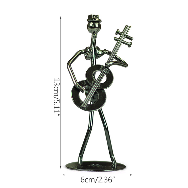 Strongwell Retro Iron Man Sculpture Band Instrument Musician Figure Doll Model Crafts Ornaments Home Decoration Accessories Gift 6