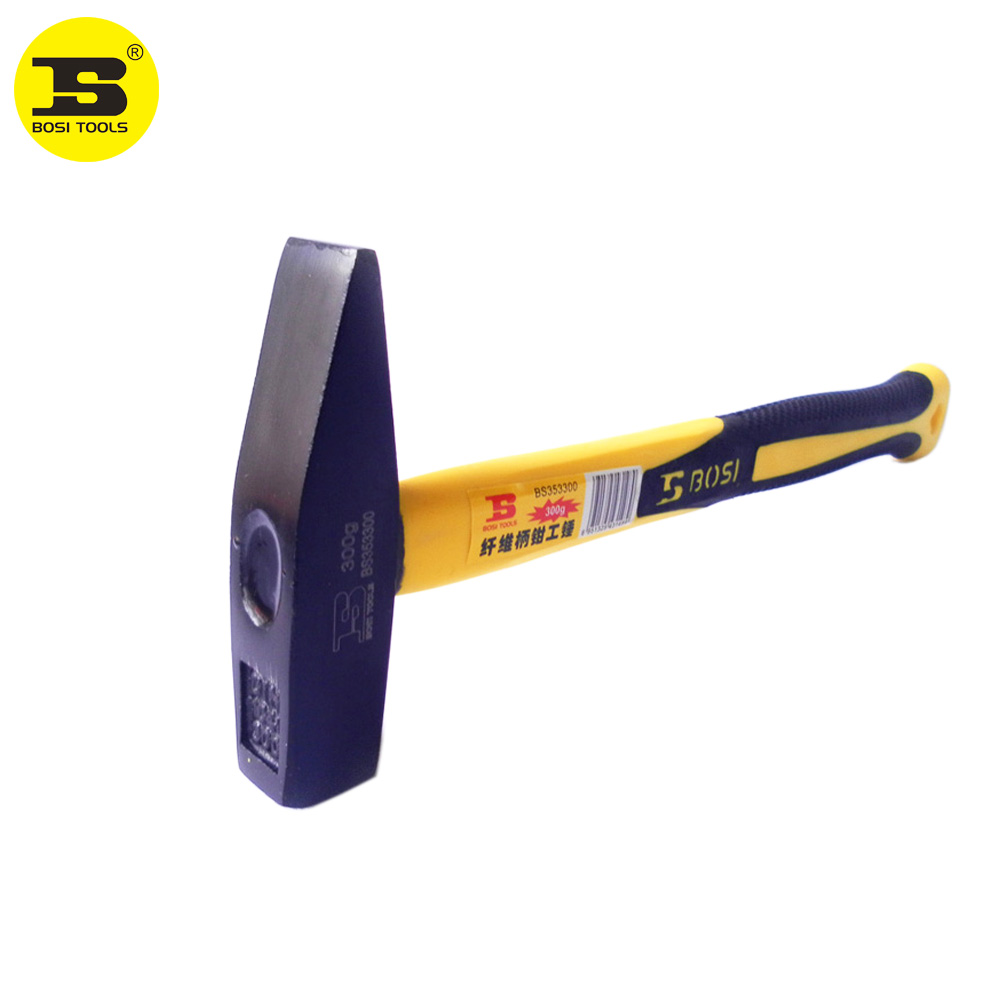 BOSI 300g/10oz machinist's riveting cross-peen hammer fiberglass handle