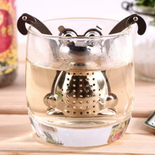Stainless Steel Mesh Loose Tea Leaf Infuser Filter Herbal Spice Strainer Diffuser Frog/Robot/Rocket/Monkey Mold(China)
