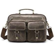 Biznesowe męskie teczki męskie skórzane torby torba na laptopa męskie oryginalne skórzane męskie teczki torba na dokument torebka biurowa 8622 tanie tanio Prawdziwej skóry Skóra bydlęca 100 genuine leather Solidna torba Pojedyncze Poliester 24cm Zipper hasp vintage Miękki uchwyt