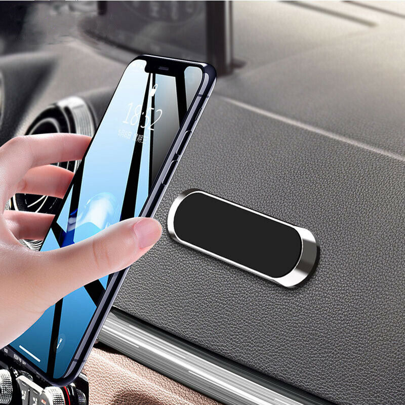 Magnetic Car Phone Holder Mini Strip Shape Stand Universal For IPhone Samsung Xiaomi Zinc Wall Magnet Wall GPS Bracket