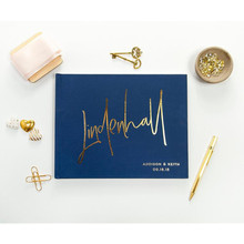 calligraphy Wedding Guest Book personalised hardcover gold sign in book memory book anniversary guestbook alternative Ideas Book
