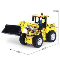 1572Pcs APP 2.4G Remote Control DIY Assembly Bulldozer Building Blocks Construction Model Toy Kids Birthdaty Gifts