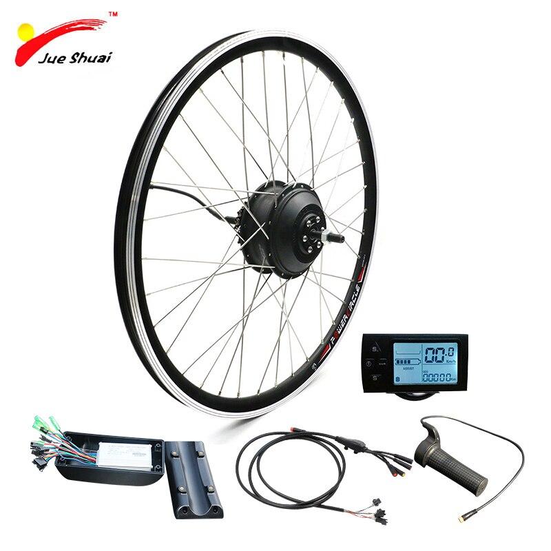 JS Электрический велосипед Водонепроницаемый Мотор колеса 36 в 250 Вт 350 Вт велосипед для 20 24 26 27,5 28 29 дюймов 700C ebike конверсионный комплект беспл...