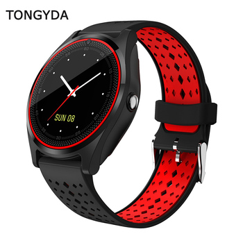 TONGYDA Bluetooth Smart Watch V9 with Camera Smartwatch Pedometer Health Sport Clock Hours Men Women Watches For Android IOS