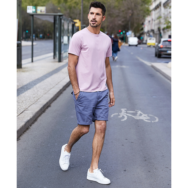 KUEGOU 2020 Summer Cotton Plain White T Shirt Men Tshirt Brand T-shirt Short Sleeve Tee Shirt Fashion Clothes Top Plus Size 5939
