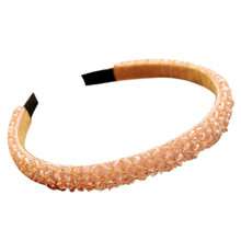 Korean Fashion Luxury Sparkly Handmade Trendy Luxus Haar Zubehör Kristall Hairband Strass Stirnband Für Frauen 1111(China)