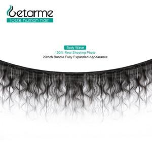 Image 2 - Brezilyalı saç örgü demetleri vücut dalga 100% insan saçı 4 demetleri 8 26 inç demetleri Remy İnsan saç Meche bresilienne